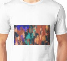 brown green blue and black painting texture abstract background Unisex T-Shirt