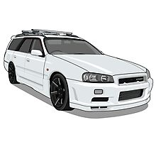 Nissan Stage A R34 Photographic Print