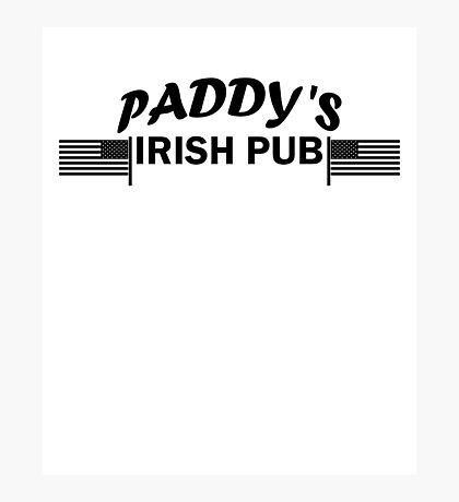 Paddys Irish Pub black Photographic Print