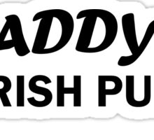 Paddys Irish Pub black Sticker
