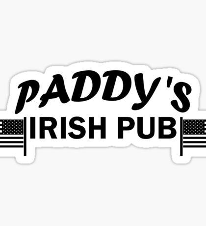 Paddys Irish Pub black Sticker