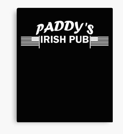 Paddys Irish Pub white Canvas Print
