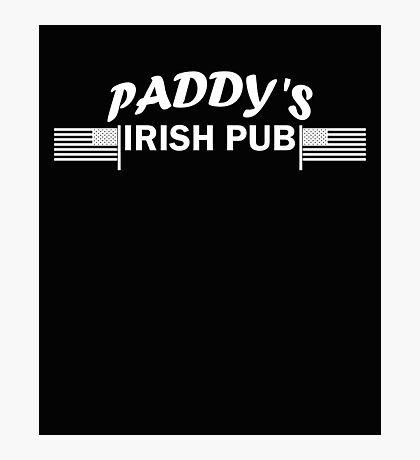 Paddys Irish Pub white Photographic Print
