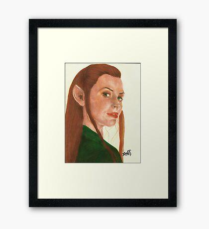 Tauriel The hobbit Framed Print