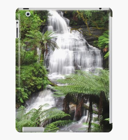 Triplet falls with Australian tree ferns iPad Case/Skin