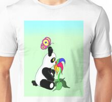 Panda and Flower Unisex T-Shirt