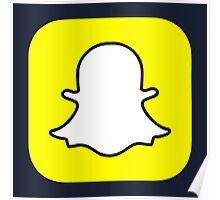 Snapchat Logo Poster