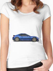 Scion FRS - Subaru BRZ - Pixel Car Women's Fitted Scoop T-Shirt