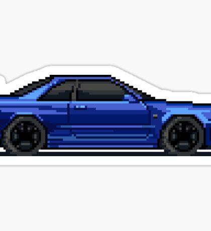 Nissan GTR - R34 Skyline - Pixel Car Sticker