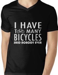 Bicycle - Too Many Bicycles Mens V-Neck T-Shirt