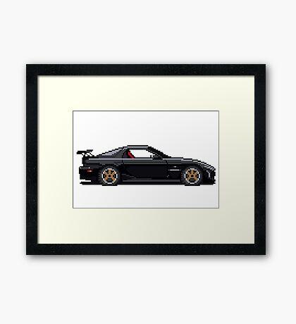 Mazda Rx7 FD - Pixel Car Framed Print
