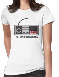 NES Nintendo Classic Edition Mini Controller Cord Length Tho Womens Fitted T-Shirt