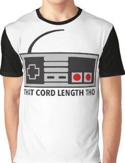NES Nintendo Classic Edition Mini Controller Cord Length Tho Graphic T-Shirt