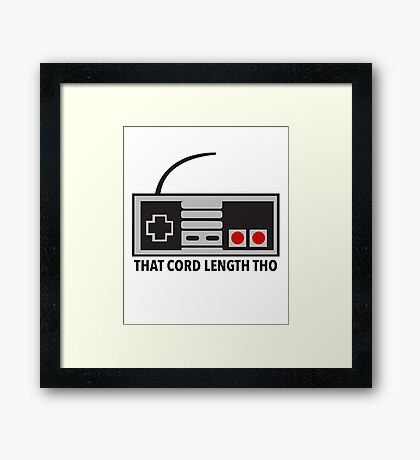 NES Nintendo Classic Edition Mini Controller Cord Length Tho Framed Print