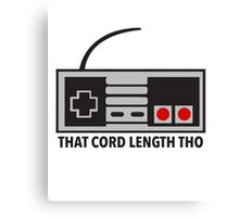 NES Nintendo Classic Edition Mini Controller Cord Length Tho Canvas Print
