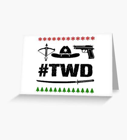 The Walking Dead - Symbols Christmas Light Greeting Card