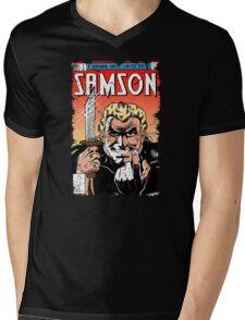 Samson Comics Mens V-Neck T-Shirt