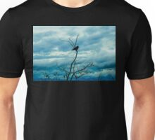 Crow meditation of the sky Unisex T-Shirt