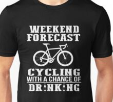 Bicycle Weekend Forecast Cycling Unisex T-Shirt