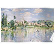 Vetheuil in Summer 1880 by Claude Monet Poster