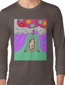 Bjorn Enters the Rain Cave Long Sleeve T-Shirt