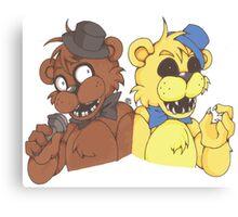 Freddy and Golden Freddy Canvas Print