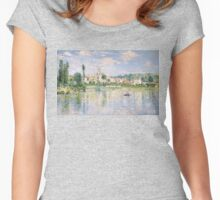 Vetheuil in Summer 1880 by Claude Monet Women's Fitted Scoop T-Shirt