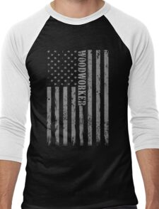 Wood working Screen Printed Super Soft T-Shirt Men's Baseball ¾ T-Shirt