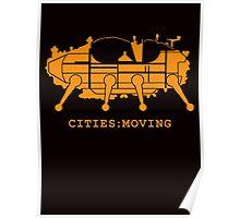 Archigram Walking City Orange Architecture t shirt Poster