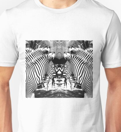 zebras in black and white Unisex T-Shirt