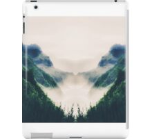 green mountains with ocean view and foggy sky iPad Case/Skin