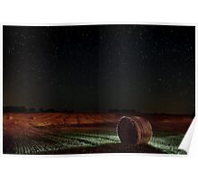 Fields at Night. Poster
