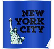 Blue New York City Poster