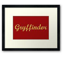 One word - Gryffindor Framed Print
