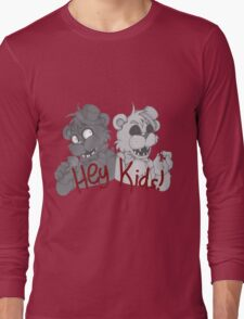 Freddy and Golden Freddy - Greyscale Long Sleeve T-Shirt