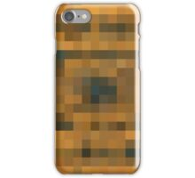 brown black and orange pixel abstract background iPhone Case/Skin