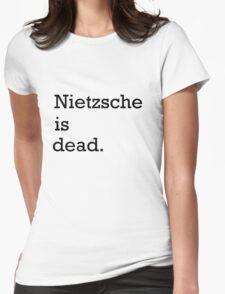 Nietzsche is dead Womens Fitted T-Shirt