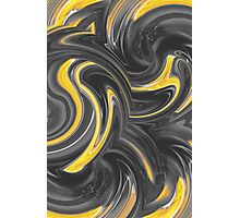 yellow and black spiral painting abstract background Photographic Print