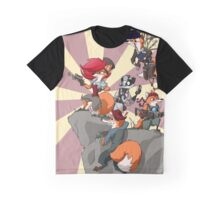 Steampowered Foxes Graphic T-Shirt