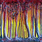 Blue trees, red trees by Elizabeth Kendall