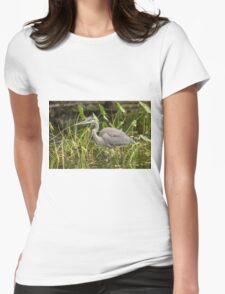 Great Blue Heron - Mud Lake, Ottawa, Canada Womens Fitted T-Shirt