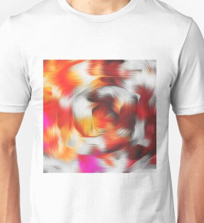 red brown and pink spiral painting abstract texture background Unisex T-Shirt