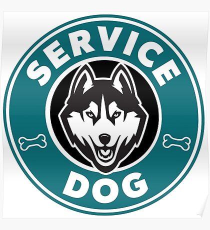 Service Dog Badge Poster