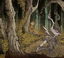 Daimon in the wood by gigaillustrator