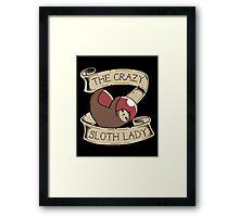 The Crazy Sloth Lady Tattoo Framed Print