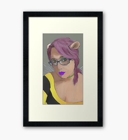 Self Portrait, as MouseBee Framed Print