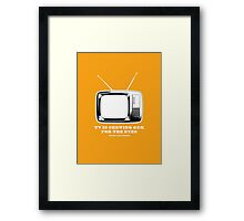 TV Is Chewing Gum For The Eyes Architecture t shirt Framed Print