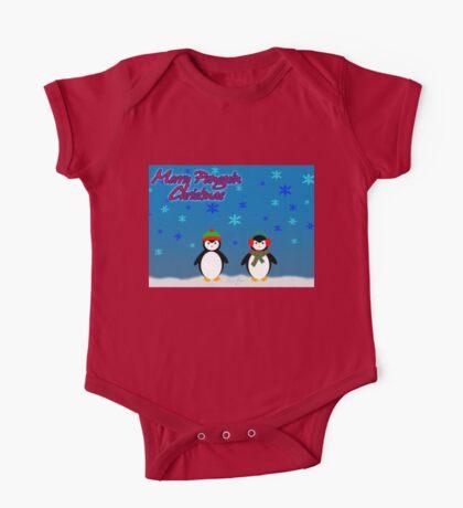 Merry Penguin Christmas! One Piece - Short Sleeve