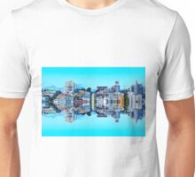 buildings with blue sky at San Francisco, USA Unisex T-Shirt