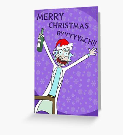 Merry Christmas BYYYYYACH Card Greeting Card